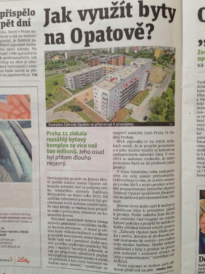 Jak využít byty na Opatově?