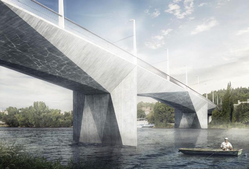 Dvorecký most už zná svou finální podobu