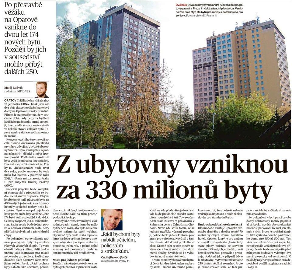 Co bude se Sandrou?- Z ubytovny vzniknou za 330 milionů byty