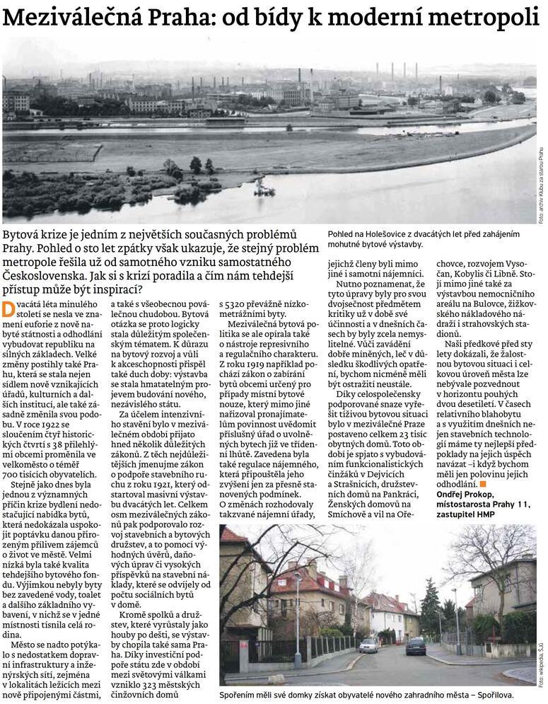 Meziválečná Praha: od bídy k moderní metropoli (článek z Náš region Praha)